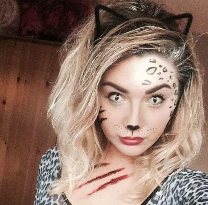 Cat Face Makeup For Halloween