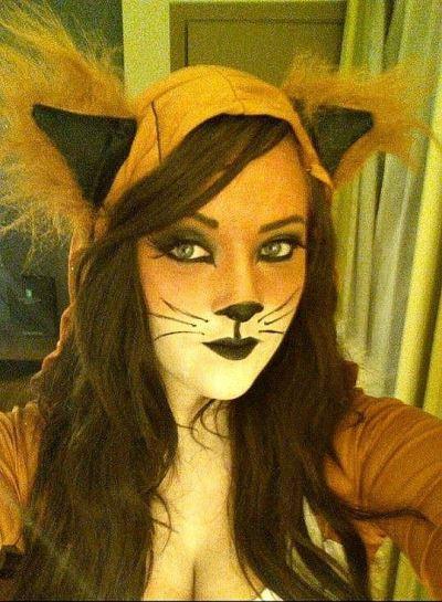 Halloween Cat Face Makeup Adults